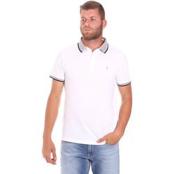vaatteet Miehet Lyhythihainen poolopaita Trussardi 52T00491-1T003600 Valkoinen