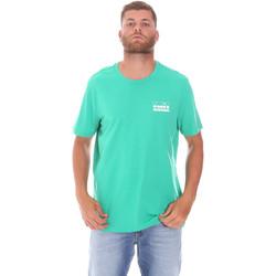 vaatteet Miehet Lyhythihainen t-paita Diadora 502175837 Vihreä