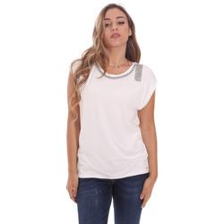 vaatteet Naiset Lyhythihainen t-paita Gaudi 111FD64023 Valkoinen