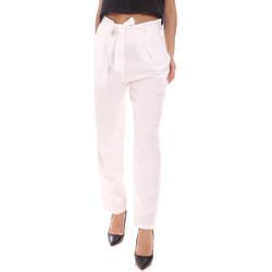vaatteet Naiset Housut Gaudi 111BD25034 Valkoinen