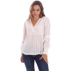 vaatteet Naiset Topit / Puserot Gaudi 111BD45024 Valkoinen