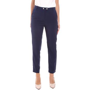 vaatteet Naiset Housut Gaudi 111BD25029 Sininen