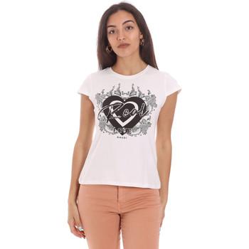 vaatteet Naiset Lyhythihainen t-paita Gaudi 111FD64017 Valkoinen
