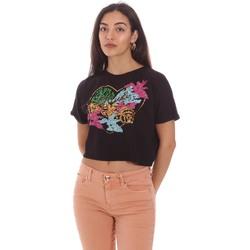 vaatteet Naiset Lyhythihainen t-paita Gaudi 111BD64041 Musta