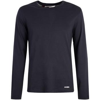 vaatteet Miehet T-paidat pitkillä hihoilla Bikkembergs  Sininen