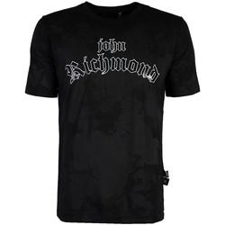 vaatteet Miehet Lyhythihainen t-paita John Richmond  Musta