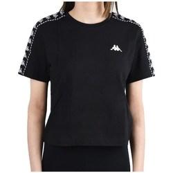 vaatteet Naiset Lyhythihainen t-paita Kappa Inula Tshirt Mustat