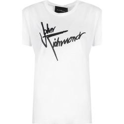 vaatteet Naiset Lyhythihainen t-paita John Richmond  Valkoinen