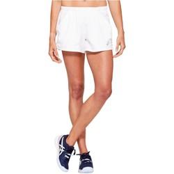 vaatteet Naiset Shortsit / Bermuda-shortsit Asics Practice W Short Blanc