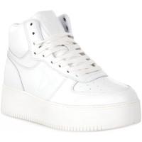 kengät Naiset Korkeavartiset tennarit Windsor Smith WHITE THRIVE Bianco