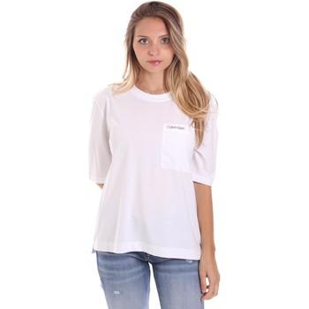 vaatteet Naiset Lyhythihainen t-paita Calvin Klein Jeans K20K202941 Valkoinen