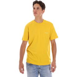 vaatteet Miehet Lyhythihainen t-paita Calvin Klein Jeans K10K103307 Keltainen