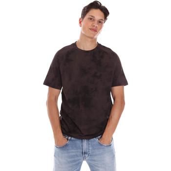 vaatteet Miehet Lyhythihainen t-paita Calvin Klein Jeans K10K106832 Ruskea