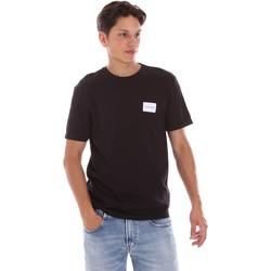 vaatteet Miehet Lyhythihainen t-paita Calvin Klein Jeans K10K107281 Musta