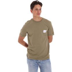 vaatteet Miehet Lyhythihainen t-paita Calvin Klein Jeans K10K107281 Vihreä