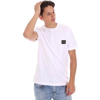 vaatteet Miehet Lyhythihainen t-paita Calvin Klein Jeans K10K107281 Valkoinen