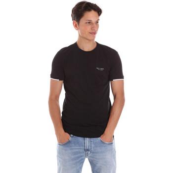 vaatteet Miehet Lyhythihainen t-paita Key Up 2S420 0001 Musta