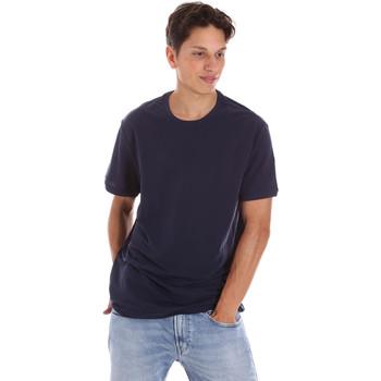 vaatteet Miehet Lyhythihainen t-paita Museum MS21BEUTC08MO938 Sininen