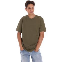 vaatteet Miehet Lyhythihainen t-paita Museum MS21BEUTC08MO938 Vihreä