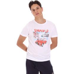 vaatteet Miehet Lyhythihainen t-paita Key Up 2S427 0001 Valkoinen