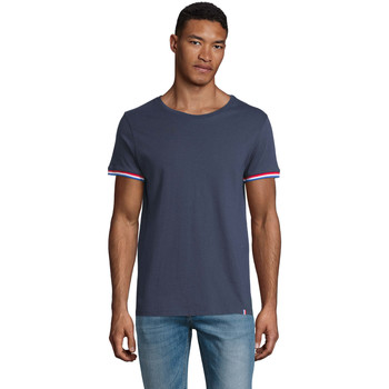 vaatteet Miehet Lyhythihainen t-paita Sols CAMISETA MANGA CORTA RAINBOW Azul
