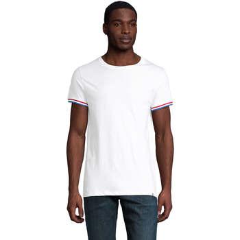 vaatteet Miehet Lyhythihainen t-paita Sols CAMISETA MANGA CORTA RAINBOW Blanco