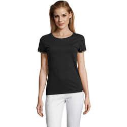 vaatteet Naiset Lyhythihainen t-paita Sols CAMISETA MANGA CORTA RAINBOW Negro