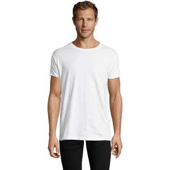 vaatteet Miehet Lyhythihainen t-paita Sols REGENT FIT CAMISETA MANGA CORTA Blanco