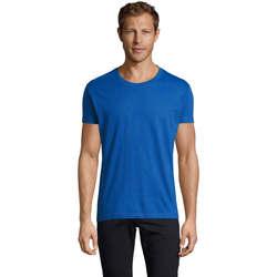 vaatteet Miehet Lyhythihainen t-paita Sols REGENT FIT CAMISETA MANGA CORTA Azul