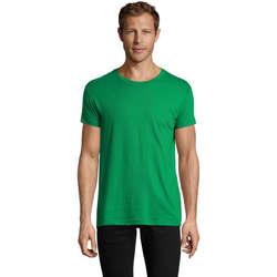 vaatteet Miehet Lyhythihainen t-paita Sols REGENT FIT CAMISETA MANGA CORTA Verde