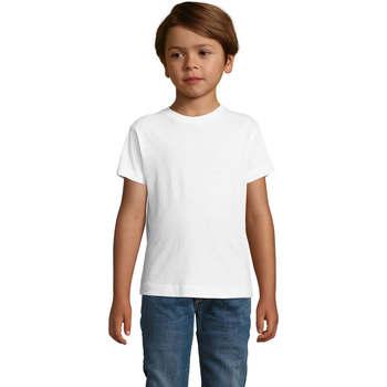 vaatteet Pojat Lyhythihainen t-paita Sols REGENT FIT CAMISETA MANGA CORTA Blanco