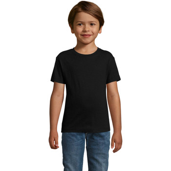 vaatteet Pojat Lyhythihainen t-paita Sols REGENT FIT CAMISETA MANGA CORTA Negro
