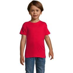 vaatteet Pojat Lyhythihainen t-paita Sols REGENT FIT CAMISETA MANGA CORTA Rojo
