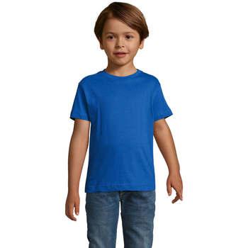 vaatteet Pojat Lyhythihainen t-paita Sols REGENT FIT CAMISETA MANGA CORTA Azul
