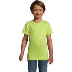 vaatteet Pojat Lyhythihainen t-paita Sols REGENT FIT CAMISETA MANGA CORTA Verde