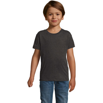 vaatteet Pojat Lyhythihainen t-paita Sols REGENT FIT CAMISETA MANGA CORTA Gris
