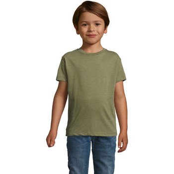 vaatteet Lapset Lyhythihainen t-paita Sols REGENT FIT CAMISETA MANGA CORTA Kaki