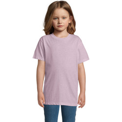 vaatteet Lapset Lyhythihainen t-paita Sols REGENT FIT CAMISETA MANGA CORTA Rosa