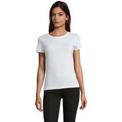 vaatteet Naiset Lyhythihainen t-paita Sols REGENT FIT CAMISETA MANGA CORTA Blanco