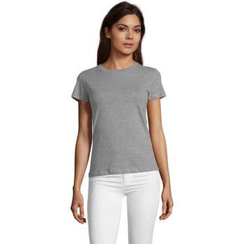 vaatteet Naiset Lyhythihainen t-paita Sols REGENT FIT CAMISETA MANGA CORTA Gris