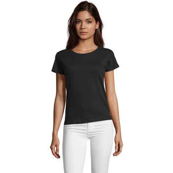 vaatteet Naiset Lyhythihainen t-paita Sols REGENT FIT CAMISETA MANGA CORTA Negro