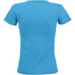 vaatteet Naiset Lyhythihainen t-paita Sols REGENT FIT CAMISETA MANGA CORTA Azul