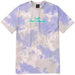 vaatteet Miehet Lyhythihainen t-paita Huf T-shirt chemistry ss Violetti