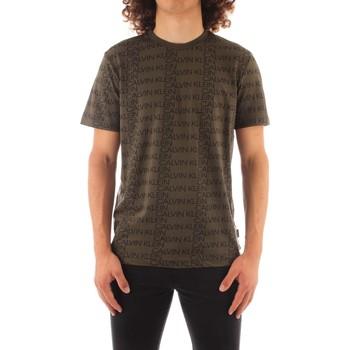 vaatteet Miehet Lyhythihainen t-paita Calvin Klein Jeans K10K107773 GREEN