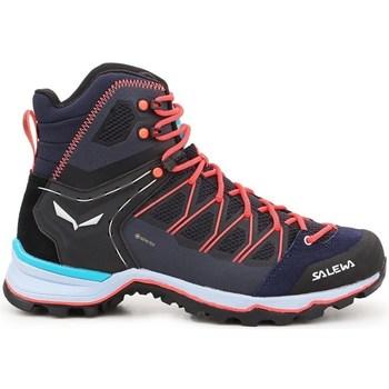 kengät Naiset Vaelluskengät Salewa WS Mtn Trainer Lite Mid Gtx Tummansininen