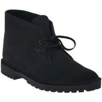 kengät Miehet Bootsit Clarks DESERT ROCK BLACK Nero