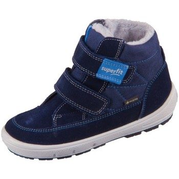 kengät Lapset Talvisaappaat Superfit Groovy Vaaleansiniset, Tummansininen