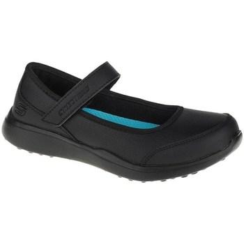 kengät Tytöt Balleriinat Skechers Microstrides Class Spirit Mustat