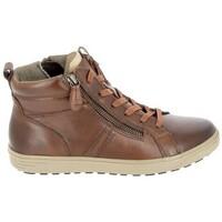 kengät Naiset Korkeavartiset tennarit Jana Boots 25202 Cognac Ruskea