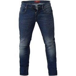 vaatteet Miehet Slim-farkut Duke  Dark Blue Stonewash